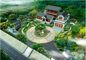 豪宅花园景观