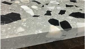 无机水磨石、无机石英石、纹路石材料方案