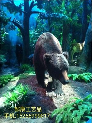 野生动物科普展馆仿真棕熊模型产品展示