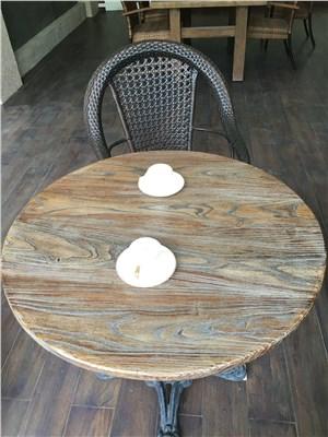 水泥家居无机人造石桌面——水泥户外家具无机纹路石台面、无机仿木台面