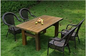 家居系列——户外无机大木桌、实木凳子、复合户外台面
