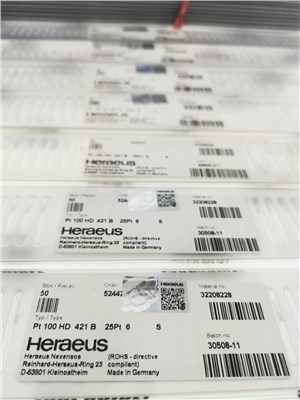 Heraeus授权经销商 贺利氏PT100 HD421B 订货号:32208228